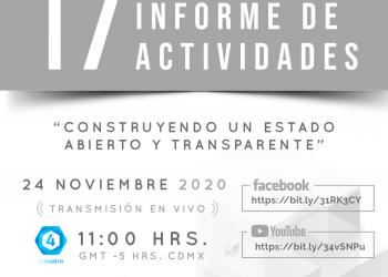 Invita IACIP a su Informe Anual de Actividades en formato a distancia